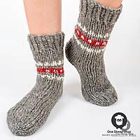 Шерстяные носки ручной вязки, большой размер, фото 1