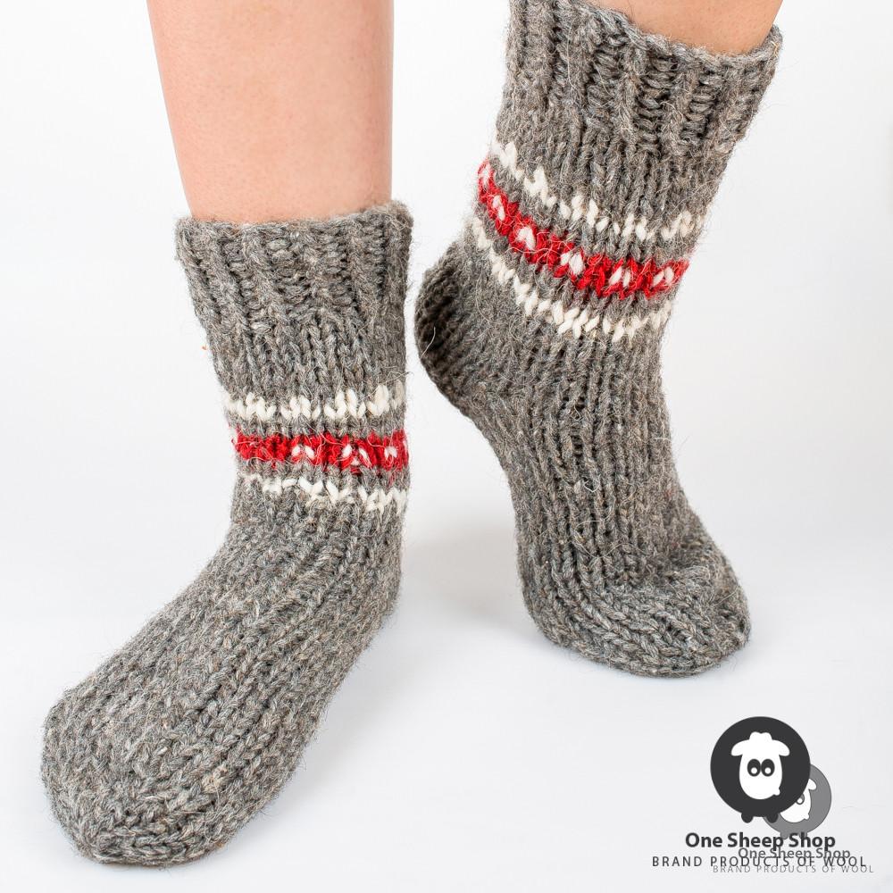 87f991b9055ee серые теплые носки ручной вязки купить купить носки на Handwork.Studio
