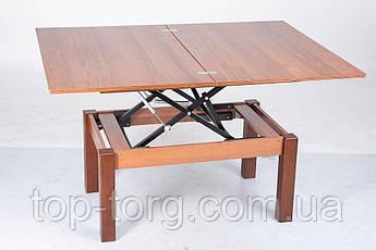 Стол трансформер Флай (Fly) Орех Экко, регулирется по высоте, журнальный, обеденный