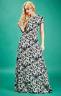 Стильное шифоновое длинное платье