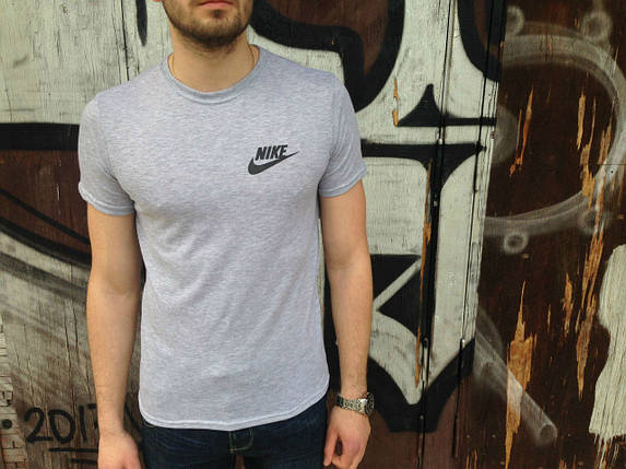 Мужская серая спортивная футболка  Nike, фото 2