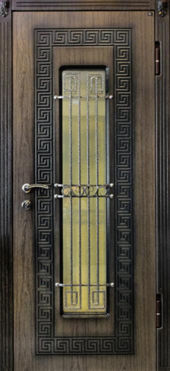 Входные уличные двери (серия с ковкой) Модерн