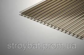 Сотовый поликарбонат 10 мм Polygal бронза