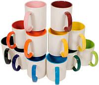 Кружки для сублимации цветные внутри и ручка ( объём 310 мл )