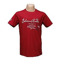Мужская красная стрейчевая футболка Lycra тм. BY Walker. 14034-6