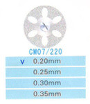 CM07/220/0.20 диски алм.двухст.