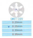 CM07/220/0.25 диски алм.двухст.