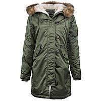 Женская куртка Elyse Parka Alpha Industries (оливковая), фото 1