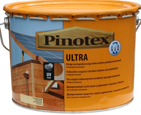Pinotex ultra белый / 10 л. / (вед.) ПИНОТЕКС БЕЛЫЙ