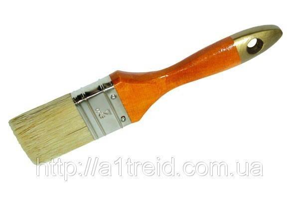 Кисть флейцевая, деревянная ручка, 70/14 (Украина) , фото 2