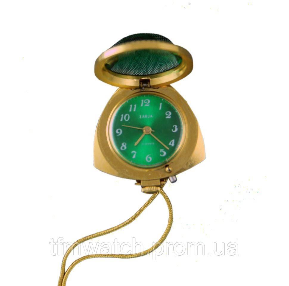 Женские механические часы кулон Заря