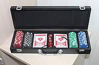Набор для покера 100 фишек без номинала в кейсе
