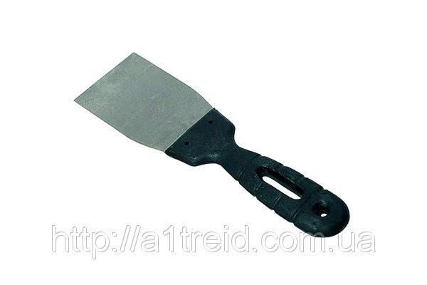 Шпательная лопатка нержавеющая с пластмассовой ручкой 40мм , фото 2