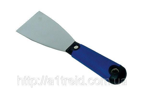 """Шпательная лопатка стальная с нержавеющим покрытием, тип """"Профи"""", 80мм , фото 2"""