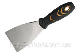 Шпательная лопатка сталева з нержавіючим покриттям, двокомпонентна ручка, 100 мм