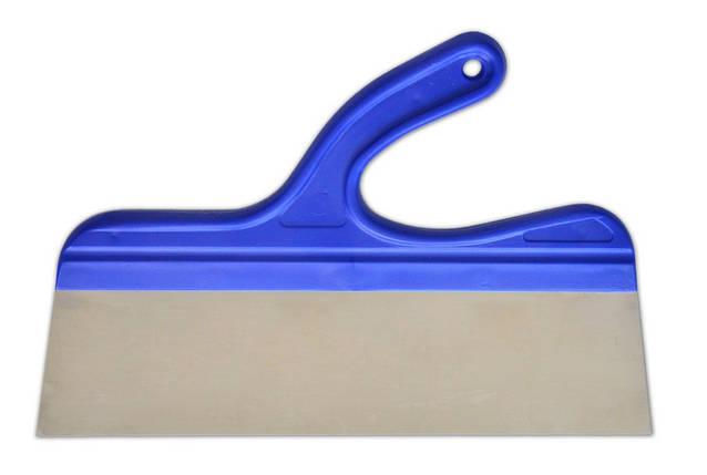 Шпатель нержавеющий 350 мм, изогнутая ручка , фото 2