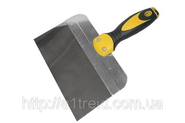 Шпатель стальной с нержавеющим покрытием, двухкомпонентная ручка, 350 мм , фото 2