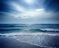 """Фотообои """"Вечернее море"""", Фактурная текстура (холст, иней, декоративная штукатурка)"""