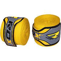 Бинты боксерские RDX Fibra Yellow