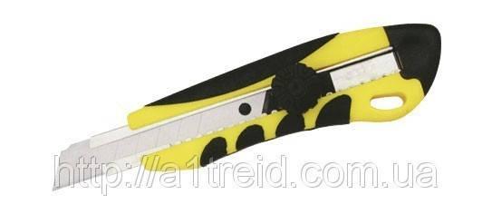 Нож с оборотным фиксатором упрочненный универсальный 18мм , фото 2