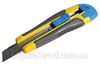 Нож упрочненный 18мм обрезиненная ручка