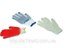 Перчатки вязанные серые с вкраплением, L