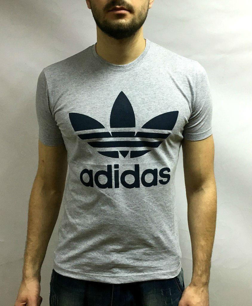 Adidas футболка, большой принт