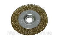 Щетка-крацовка дисковая, латунная, 100х16мм