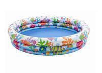 Детский надувной бассейн 59431 Тропические рыбки, 3 воздушные камеры-кольца, 132*28см