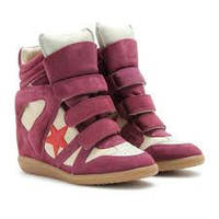 Распродажа!!! Isabel Marant Bayley Wedge Sneakers In Purple