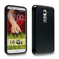 Бампер для LG Optimus G2 D802 - SGP Slim Armor, черный