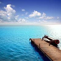 """Фотошпалери """"Човен біля причалу"""""""