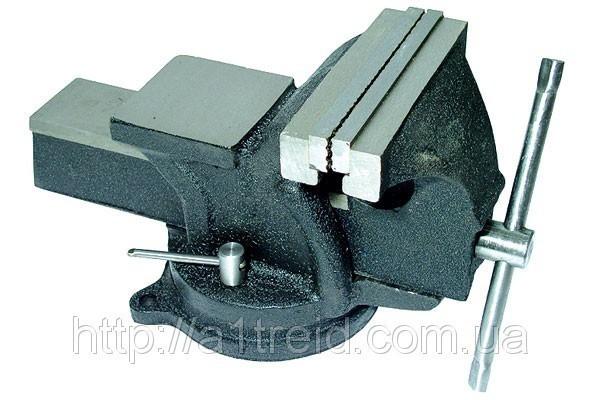 Тиски слесарные поворотные 100 мм, 5 кг, черные