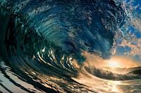 """Фотообои """"Большая волна"""", Фактурная текстура (холст, иней, декоративная штукатурка)"""