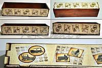 Ящик с ровными бортами заготовка для декупажа