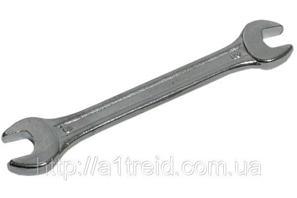 Ключ рожковый двухсторонний, Cr-V, 8х10 мм