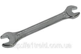 Ключ рожковый двухсторонний, Cr-V, 14х15 мм