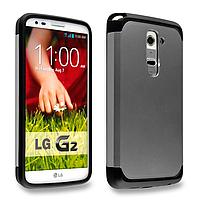 Бампер для LG Optimus G2 D802 - SGP Slim Armor, серый