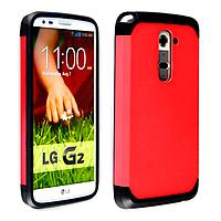 Бампер для LG Optimus G2 D802 - SGP Slim Armor, красный