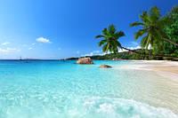 """Фотообои """"Голубая вода и песчаный пляж"""""""
