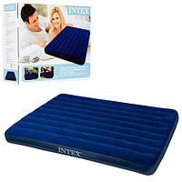Двухспальный надувной матрас Intex Classic Downy Bed 68759, фото 1