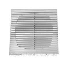 Решетка с москитной сеткой, прямые жалюзи, ABS, 194х194 мм (1919Г)