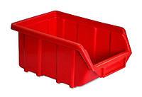 Емкость для мастерской средняя, красная 250x160x130 мм