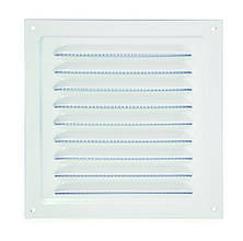Решетка металлическая с москитной сеткой, 200х200 мм (2020МЭ)
