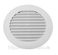 Решетка вытяжная круглая, наклонные жалюзи, с фланцем, D100 мм (10РК)