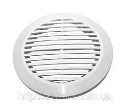 Решітка витяжна кругла, роз'ємна, з фланцем, D100 мм (10РКФ)