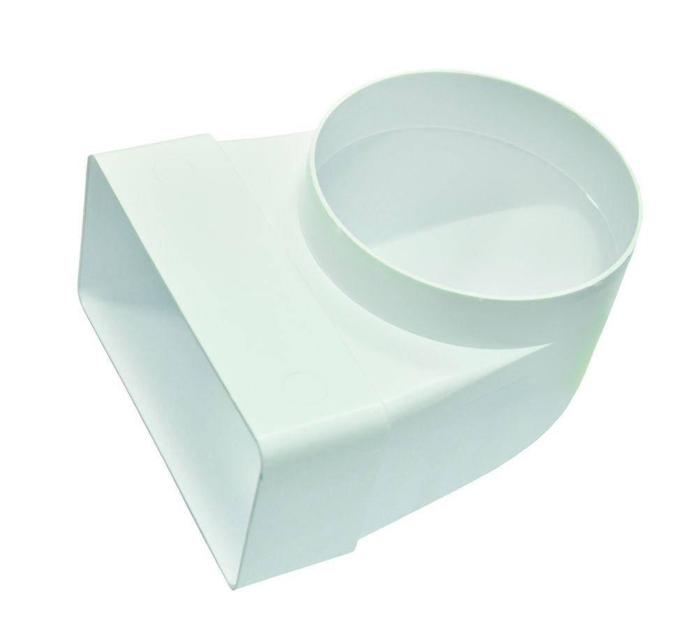 Соединитель 90°, прямого воздуховода с круглым 60х120/D 100 мм  (6