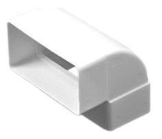 Колено вертикальное 90° для прямых каналов, 60х120 мм (612КВП)