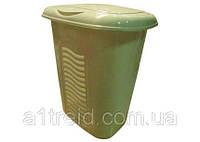 Корзина для белья пластиковая малая, 40 л