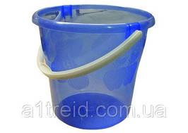 Ведро пластиковое с крышкой прозрачное, пищевое, 8 л